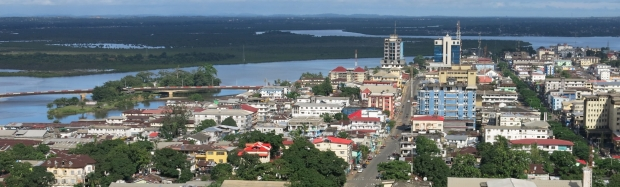 Monrovia, Liberia's capital, view from Ducor.